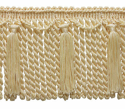 Ivory Offwhite 6  Chainette Bullion Fringe Victorian Silk [By The Yard] • 5.97£