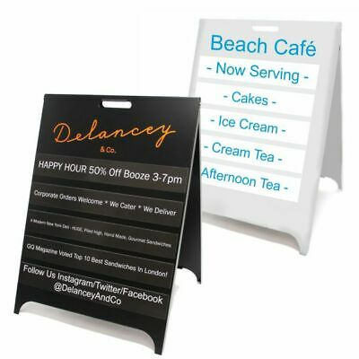 Personalised Magnetic Interchangeable A-Board. A Frame. Pavement Sign. Metal.  • 239.83£