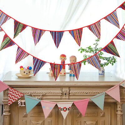 £6.19 • Buy Ethnic Style Cotton Bunting Pennant Flags Banner Garland Home Party Decoration