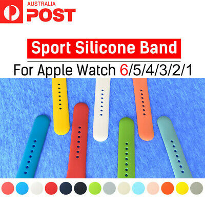 AU6.95 • Buy Sports Silicone Bracelet Strap Band For Apple Watch IWatch Series 5_3_2, 38/42mm