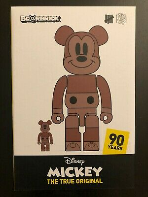 $400 • Buy Mickey Mouse 90th Anniversary Exhibit Bearbrick X Undefeated X Disney 400% 100%