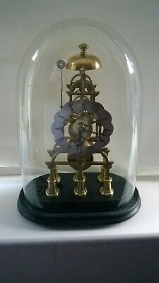 £1100 • Buy English Fusee Skeleton Mantel Clock With Glass Dome 8 Day Movement