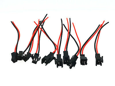 AU5.99 • Buy 5 Pairs JST 2.5 SM 2-Pin Connector Plug Female & Male With Wires Cables
