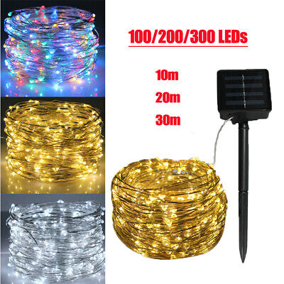 100/200LED Solar String Lights Waterproof Copper Wire Fairy Wedding Party Decor • 7.89£
