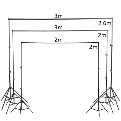 Photography Stand Background Studio Screen Support Adjustable Height + 3 Clamps  • 17.99£