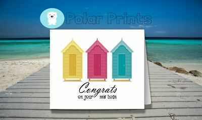 Personalised New Home Card. Unique, Cute & High Quality Card.  • 3.50£
