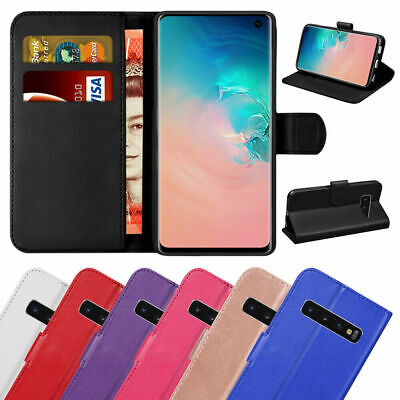 $ CDN6.48 • Buy Book Case For Samsung Galaxy S10 Plus S9 S8 S7 A40 A70 Leather Magnetic Wallet