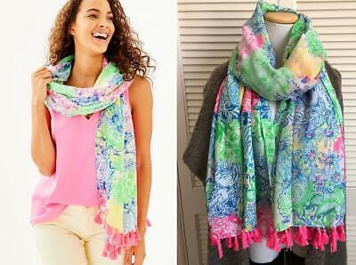 $29 • Buy NEW $68 Lilly Pulitzer Resort Scarf  Multi Cheek To Cheek  Wrap Coverup