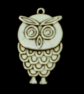 10 Silver Owl Charms Jewellery Making Harry Potter, Halloween Wicca Hp24  • 0.99£