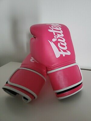 $71.53 • Buy Fairtex Muay Thai Style Boxing Gloves Pink With White Trim 14oz