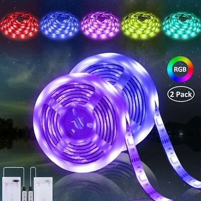 $19.50 • Buy LED Strip Lights Battery Operated RGB LED Lights Strip Battery Powered 2 Pk NEW
