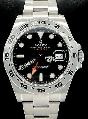 $ CDN13584.64 • Buy Rolex Explorer II  216570 Stainless Steel Black Dial 42mm Watch Papers New