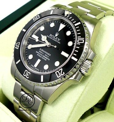 $ CDN14128.08 • Buy Rolex Submariner 114060 Stainless Steel Black Ceramic Bezel Box Papers New