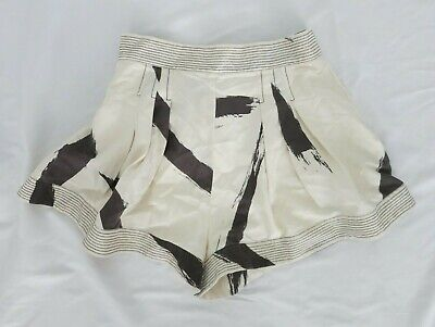$149.99 • Buy ZIMMERMANN Gray And Beige Printed Shorts Size 3 US L