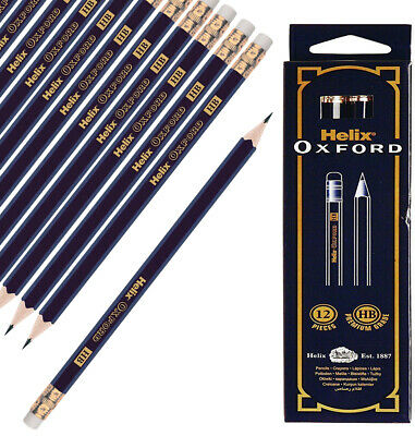 Helix Oxford HB Pencils With Erasers Rubber Boxed Premium Quality Beautiful • 4.45£