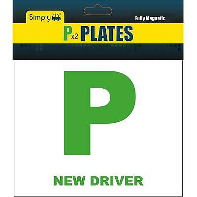 Simply 2 X Fully Extra Strong Magnetic Car P Plates Learner Driver Just Passed • 2.80£