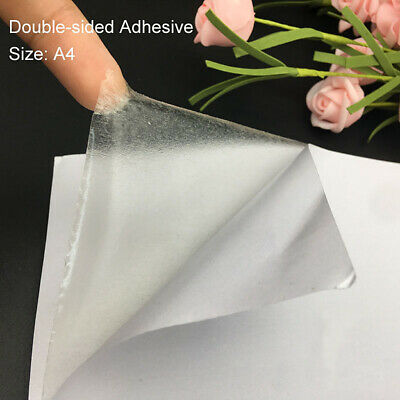 £2.97 • Buy 10 Sheets A4 Double Sided Tape Clear Adhesive Sticker DIY Handmade Paper Crafts