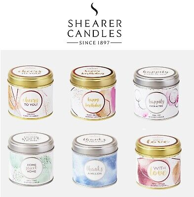 Shearer Occasions Large Tin Candles - Birthday, Wedding, Congratulations • 8.99£