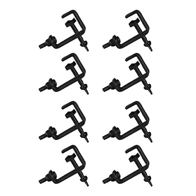 8x Thor CL003 25mm Hook Clamp G Clamp Pipe Lighting Disco Stage Theatre Black • 19.99£