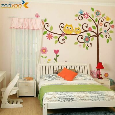 Owls & Tress Design Decorative PVC Wall Stickers For Home Children Bedrooms • 4.99£