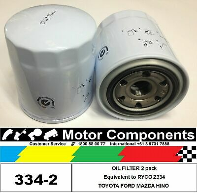 AU40.48 • Buy OIL FILTER 2 PACK Z334 For TOYOTA Landcruiser Hilux MAZDA B2500 FORD Courier