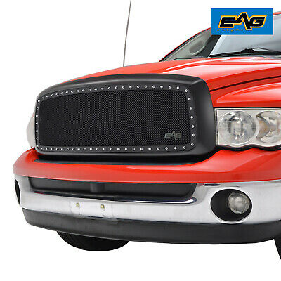 $209.99 • Buy EAG Fit 02-05 Dodge Ram 1500/ 2500/ 3500 Chrome Mesh Rivet Replacement Grille