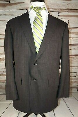$38.38 • Buy Brooks Brothers Brooks Ease Mens 44L Button Front Suit Jacket  Dark Gray Stripe