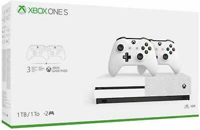 $399 • Buy Microsoft Xbox One S Two-Controller Bundle 1TB Gaming Console NEW