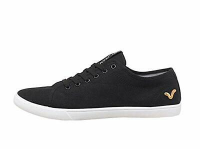 Mens Boys New Voi Jeans Sanford Canvas Trainers Pumps Navy Blue / Black UK 6 -12 • 24.99£