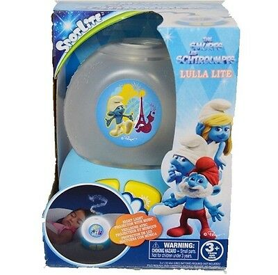 Smurfs Kids Night Light Lamp With Music Children Soothing Toy Battery   • 6.99£
