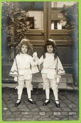 RPPC, Two Dapper Young Boys In French Costume, Paris  • 7.99£