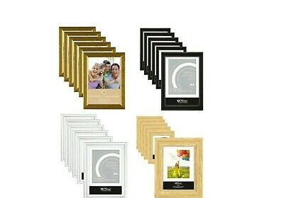 £12.99 • Buy [6 Or 12] X A4 Certificate Photo Picture Frames Standing Mountable Glass/Plastic