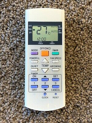 AU19.88 • Buy Panasonic Replacement Air Conditioner Remote Control A75C3299, A75C2600 A75C2602