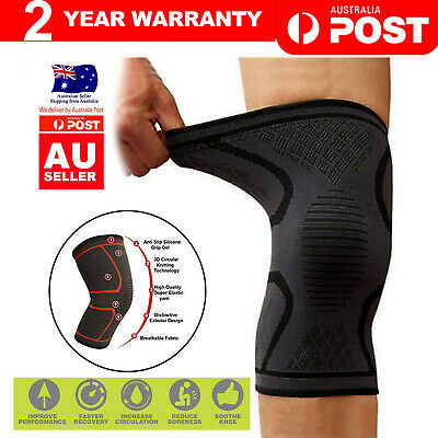 AU5.90 • Buy Knee Support Brace Compression Sleeve Arthritis Pain Relief Gym Sports Running