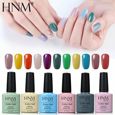 HNM Soak Off Colour Gel Polish Top Base Coat Varnish Nail Art DIY Manicure Decor • 2.99£