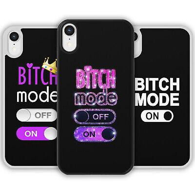 AU11.59 • Buy BITCH MODE ON Phone Case Cover For IPhone Samsung Galaxy Joke Rude Funny Gift