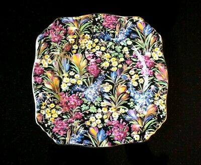 $ CDN83.31 • Buy A Beautiful Royal Winton Grimwades Chintz Black Crocus Sweets Plate