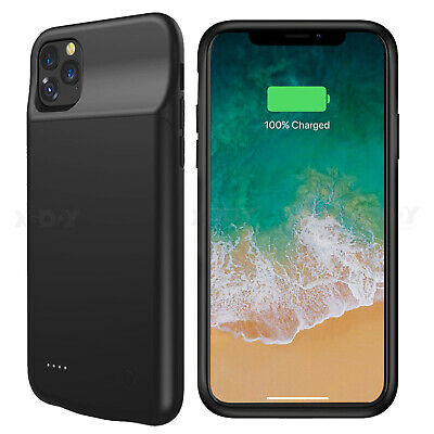 AU37.69 • Buy Smart Battery Case For IPhone 11 Pro Max Backup 6000mAh Power Bank Charger Cover