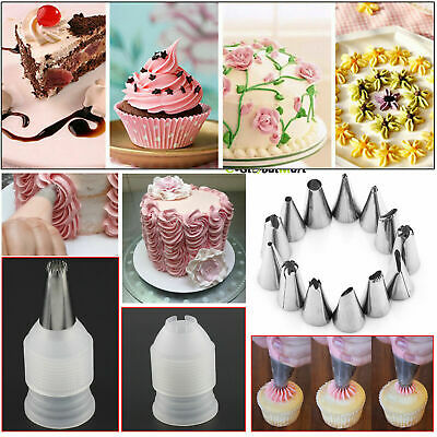24 Pieces Icing Piping Nozzle Tool Set Pastry Cake Cupcake Sugarcraft Decorating • 1.49£