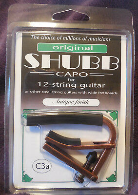$ CDN33.03 • Buy Shubb C3A Capo Antique Finished Capo For 12-String Guitars + Free Shipping