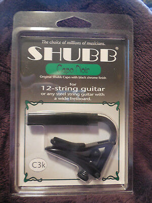 $ CDN27.08 • Buy Shubb C3K NEW Capo Noir Black Chrome Capo For 12-String Guitars + Free Shipping