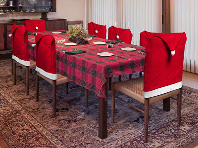 Christmas Decoration Indoors Santa Hat Dining Room Chair Cover Set • 12.99$