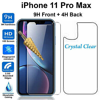 AU6.99 • Buy Tempered Glass 9H Screen Protector For Apple IPhone 11 PRO MAX Front + Film Back