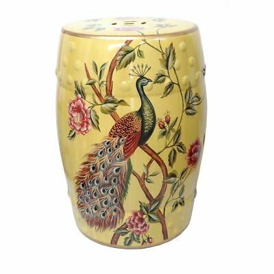 £110.68 • Buy Yellow Oriental Chinese Ceramic Porcelain Stool Side Table Plant Stand 45cm