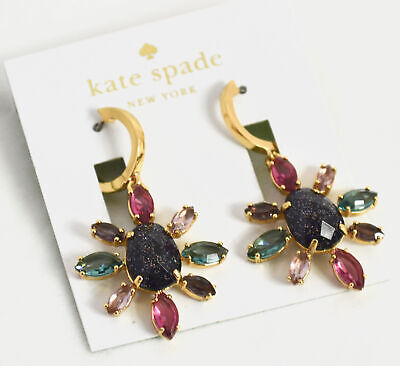 $ CDN49.99 • Buy Kate Spade New York Drop Gold-Tone Multi-Stone Drop Earrings