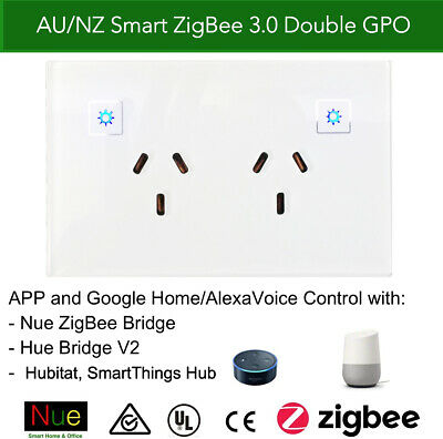 AU58.50 • Buy NUE Philips Hue SmartThing Smart ZigBee Power Point GPO Switch Google Home Alexa