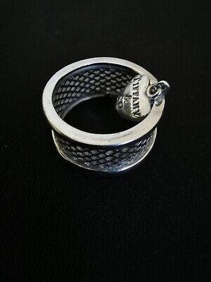 Tiffany & Co  Heart Sterling Silver Ring 925 Size On Photo • 65£