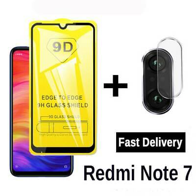 $1.55 • Buy For Xiaomi Redmi Note 7 Tempered Glass Screen Protector Cover + Camera Lens Film