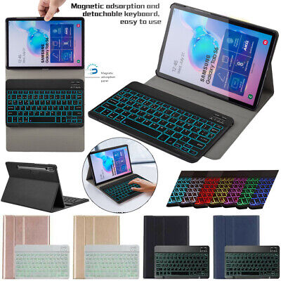 AU53.19 • Buy For Samsung Galaxy Tab S6 10.5 T860 T865 Tablet Case Cover With Backlit Keyboard