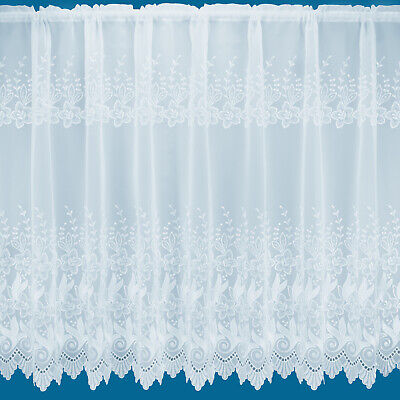 £5.99 • Buy  Provence  Embroidered Voile Net Curtain - Free Postage - Sold By The Metre
